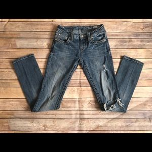 Miss Me Distressed Mid-rise Straight Jeans